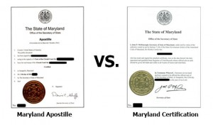 State of Maryland Apostille