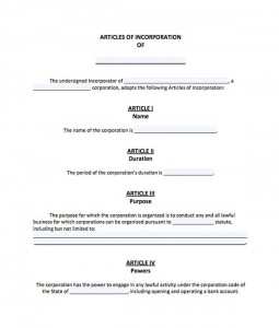 Articles of Incorporation Apostille